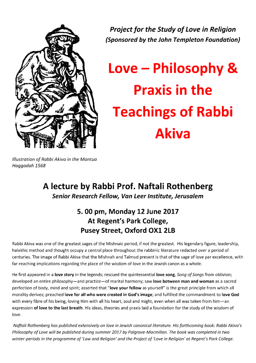 Love - Philosophy and Praxis in Rabbi Akiva_poster1
